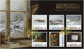 NZPost's Historic Huts of the Ross Dependency stamp set